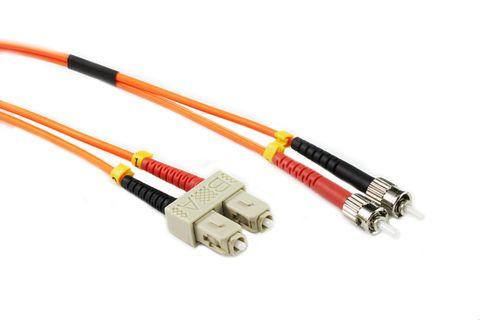 20m SC-ST OM1 MM duplex premium fibre lead