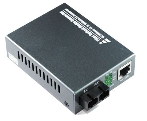 SC SM 10-100-1000 Gb 20km fibre media converter