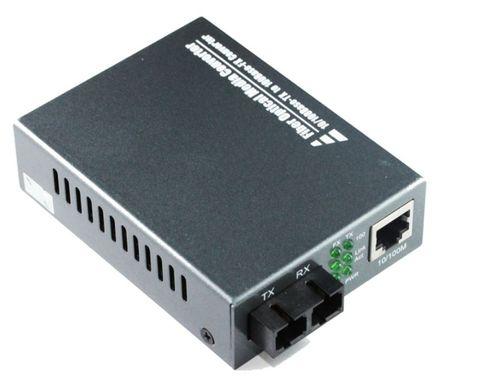 SC SM 10-100 25km fibre media converter