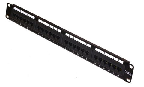 Cat6 24-port patch panel