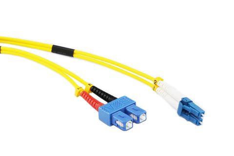 2m LC-SC OS2 SM duplex premium fibre lead