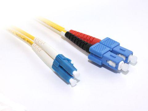 15m LC-SC OS2 SM duplex fibre lead