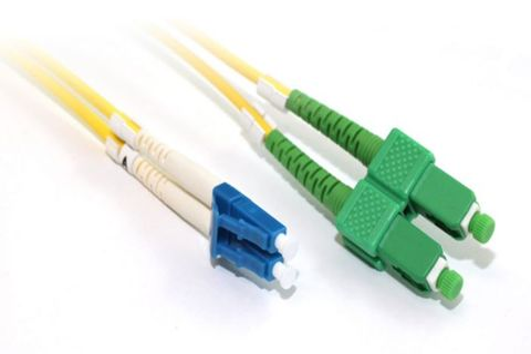 5m LC-SCA OS1 SM duplex premium fibre lead