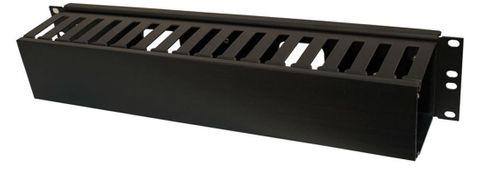 2RU 24-Slot horizontal metal cable rail 95mm deep