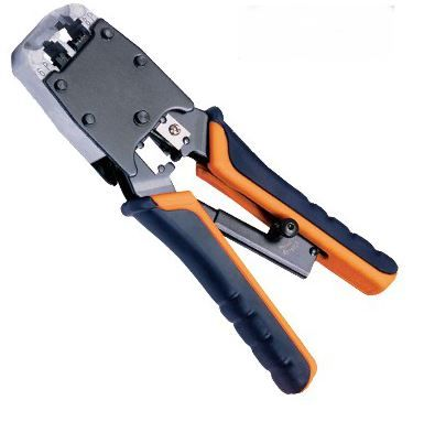 Ratchet RJ12-RJ45 crimp tool