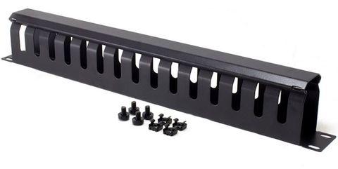 1RU 12-slot 70mm deep full metal cable management rail