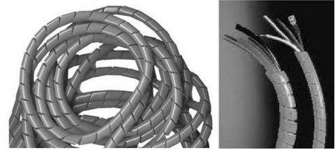 20mm OD x 10m Black cable spiral binding kit