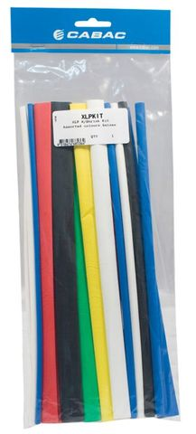 Heatshrink tubing kit, thin wall - ass colour/size