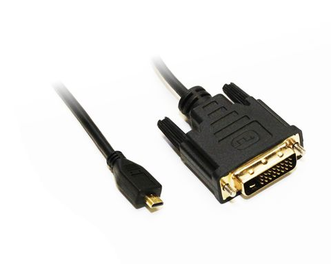 2m Micro-HDMI to DVI-D cable