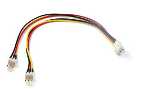 Molex fan power splitter cable 3-pin