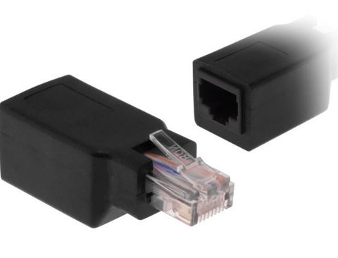 RJ45 Inline Cross Over Adaptor Male to Female
