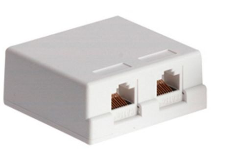 2-way Cat6 surface mount outlet