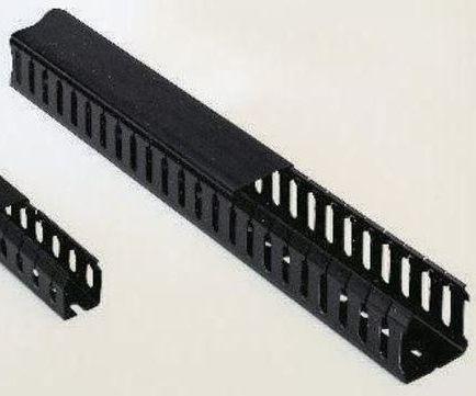 2m  50x50mm wxd Open slot PVC panel trunking 8-pk