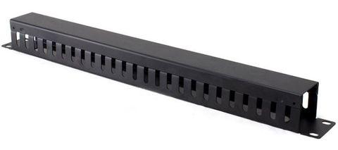 1RU 24-Slot horizontal 65mm deep cable management rail Serveredge