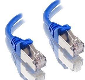 1m Cat6A blue Alogic LSZH shielded cable