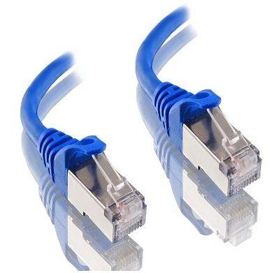 25m Cat6A blue Alogic LSZH shielded cable