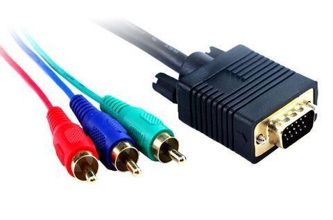 2m VGA to RBG RCA monitor lead