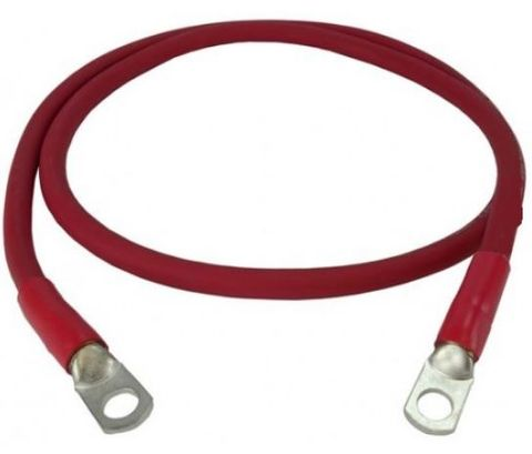 250mm Red Battery Cable  10mmm Lug each end