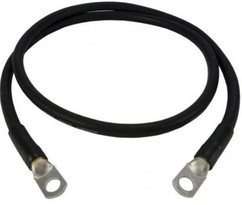 250mm Black Battery Cable  10mmm Lug each end