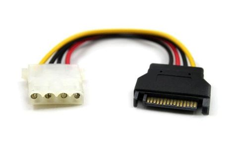 15cm SATA2 to Molex power cable M-F