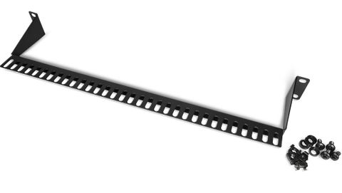 Lacing bar for cable management 110mm deep L Shape
