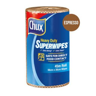 CLOTH ROLL HEAVY DUTY SUPERWIPES ESPRESSO CAFÉ BROWN 45M