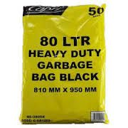 GARBAGE BAG HEAVY DUTY 72- 80L X 50 CAPRI