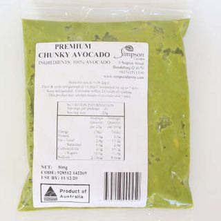 AUSTRLIAN CHUNKY AVOCADO 500GM  SIMPSON FARM PREMIUM SIMPSON FARMS