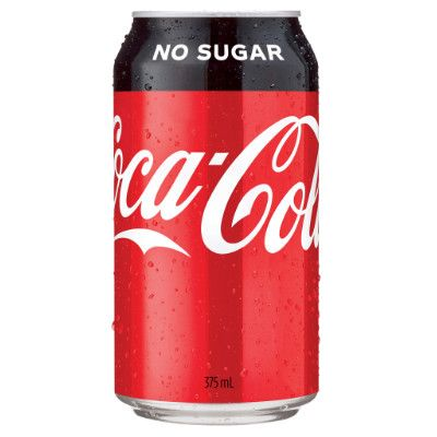 COKE NO SUGAR 375ML X 24 CANS