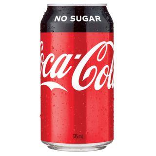 COKE NO SUGAR 375ML X 24 CANS