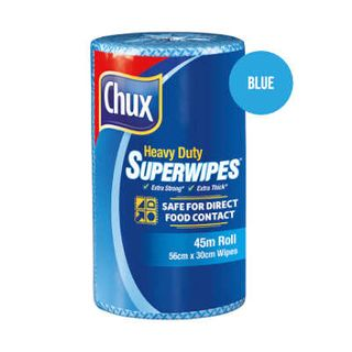 CLOTH ROLL HEAVY DUTY SUPERWIPES BLUE 45M
