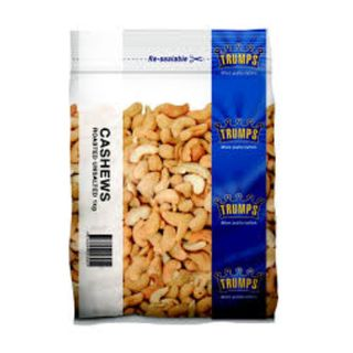 CASHEWS ROASTED UNSALTED TRUMP 1KG