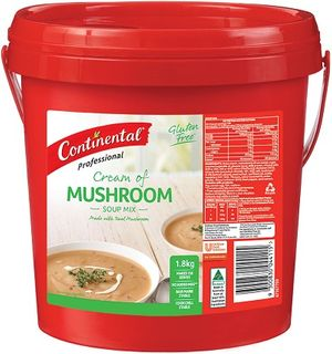 CREAM OF MUSHROOM SOUP 1.7KG CONTINENTAL