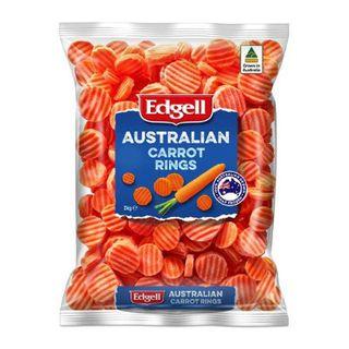 Carrot Rings Edgell Frozen 2Kg