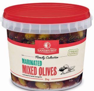 OLIVES MIX PITTED MARINATED 2KG SANDHURST