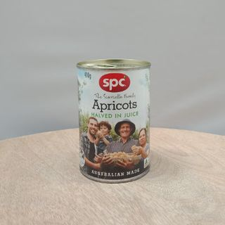 APRICOTS HALVED IN JUICE 410GM SPC