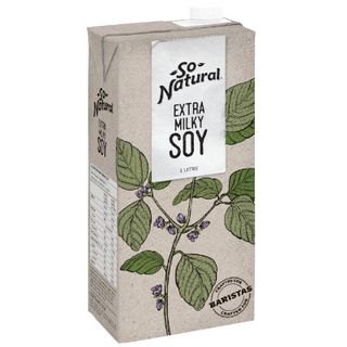 So Natural Barista Extra Milky Soy Milk 1Lt