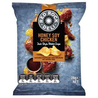 Red Rock Honey Soy Chicken Chips 28Gx21 Smiths