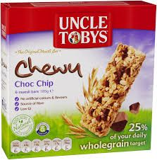 Choc Chip Muesli Bar 60 X 31.35Gm