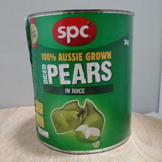 Pears Diced Natural Juice A10 Spc