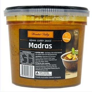 @ Madras Simmer Sauce 2Kg Wombat Valley