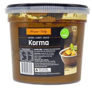 Korma Simmer Sauce 2Kg Wombat Valley
