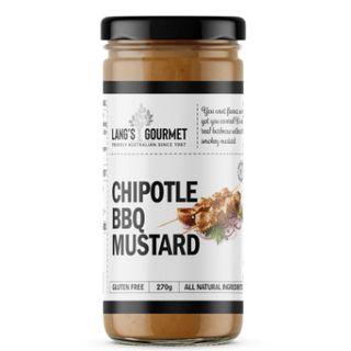 Chipotle Bbq Mustard X 270Gm Langs Gourmet
