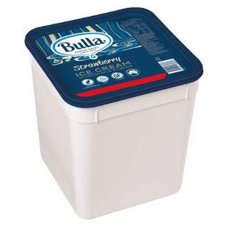 Ice Cream Strawberry 10Lt Bulla Gluten free