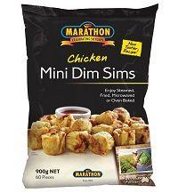 Dim Sim Mini Chicken 900G Marathon