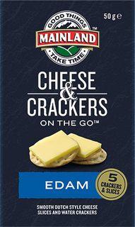 Cheese & Crackers P/C Edam Snack On The Go 7 X 50G