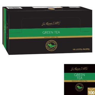 Tea Bags Green Tea Envelopes 100Pk