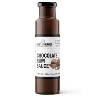 CHOCOLATE RUM DESSERT SAUCE X 250ML LANGS GOURMET