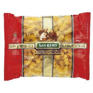 Large Spiral Pasta #53 2X5Kg San Remo