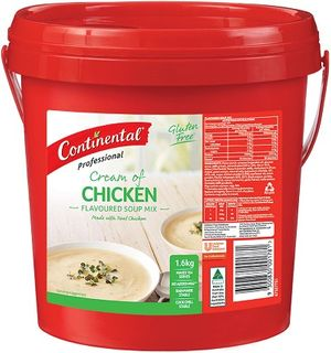CREAM OF CHICKEN SOUP POWDER G/F 1.6KG CONTINENTIAL